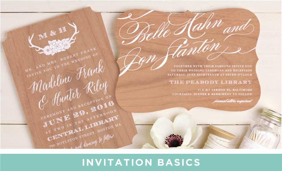 Invitation Basics