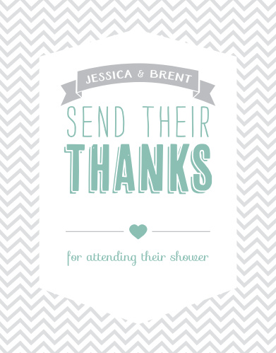 Trendy Chevron Baby Shower Thank You Cards