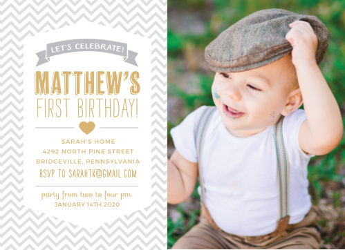 boys first birthday invitations by basic invite