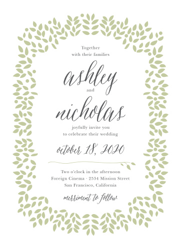 Blushing Leaves Wedding Invitations