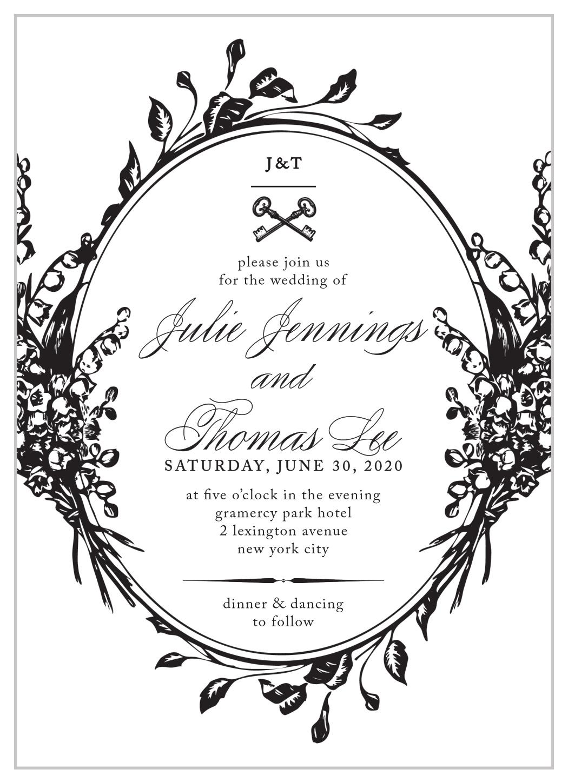 Antique Chic Wedding Invitations