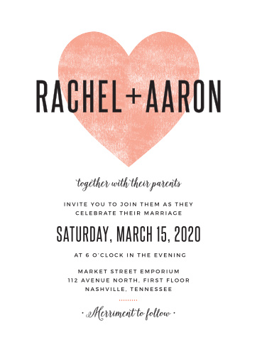 heart wedding invitations match your color style free