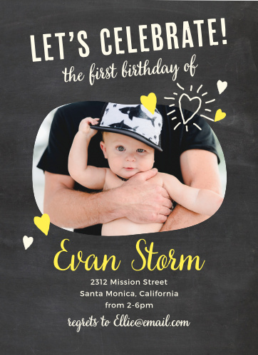 boys first birthday invitations by basic invite