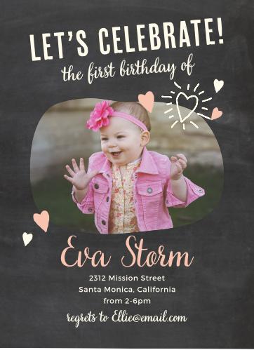 Fun Times Girl First Birthday Invitations