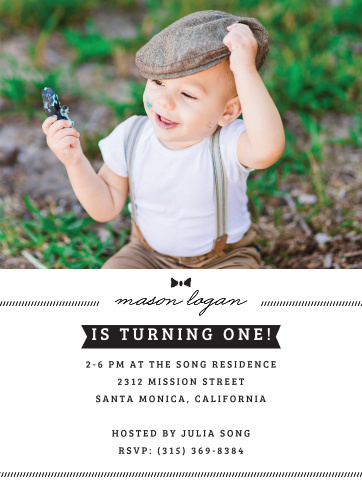 Little Guy First Birthday Invitations