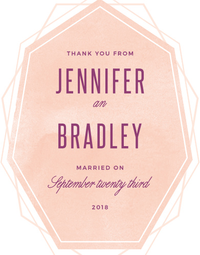 Divinely Modern Wedding Thank You Cards