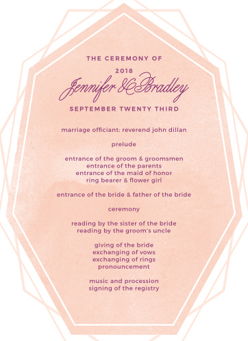 Divinely Modern Wedding Programs