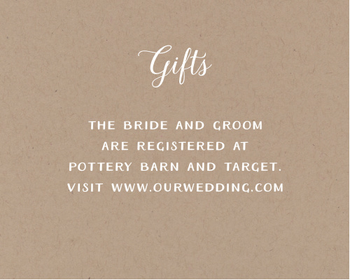 Rustic Love Registry Cards