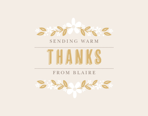 Farmhouse Blooms Foil Thank You Cards