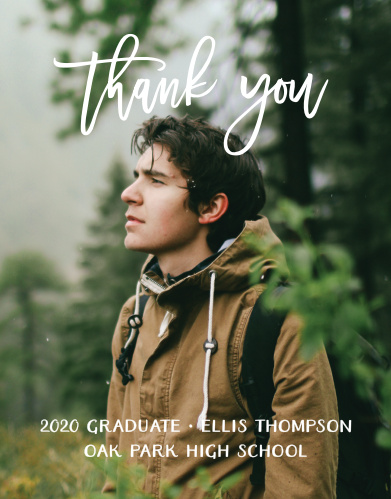 Adventure Awaits Graduation Thank You Cards