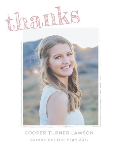 Marker Script Graduation Thank You Cards
