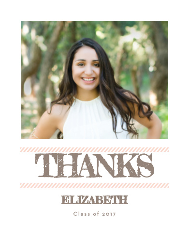 Staggered Snapshots Graduation Thank You Cards