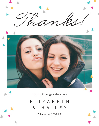 Colorful Confetti Graduation Thank You Cards