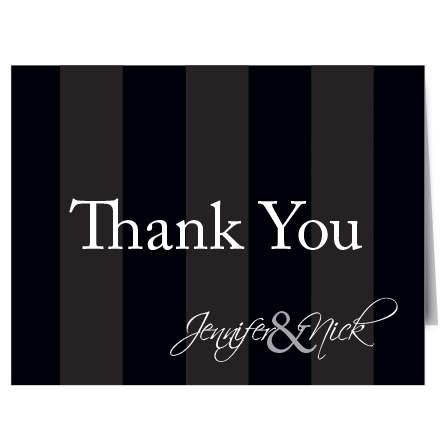 The Elegant Stripes Thank You Card
