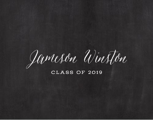 Chalkboard Grad Graduation Thank You Cards