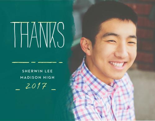 School Board Graduation Thank You Cards