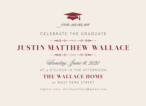formal party graduation invitations