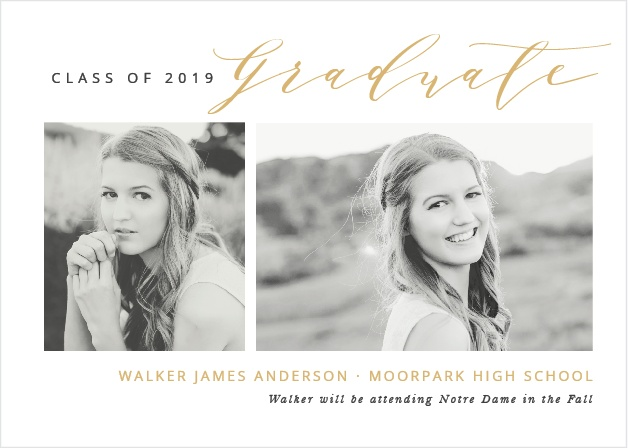 2019 graduation announcements invitations for high school and college
