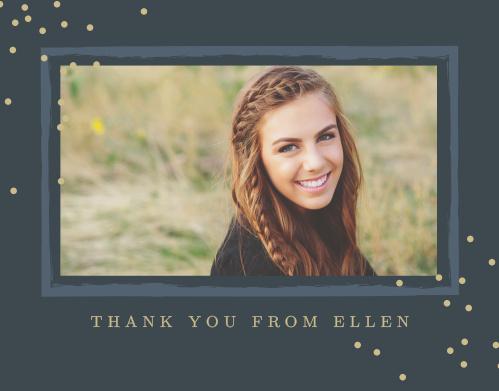 Glittering Graduate Graduation Thank You Cards