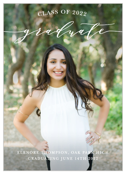 High School Graduation Announcements 2020.High School Graduation Match Your Color Style Free