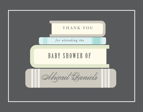 Baby Book Boy Baby Shower Thank You Cards