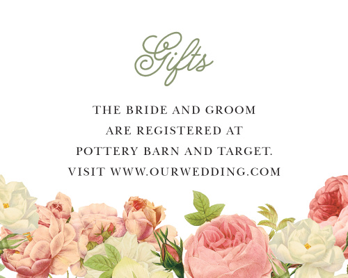 Alluring Florals Registry Cards
