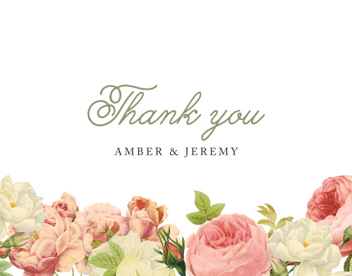 Alluring Florals Wedding Thank You Cards