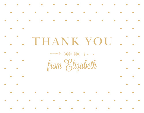 Darling Dots Foil Thank You Cards