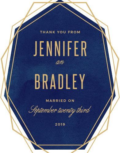 Divinely Modern Foil Wedding Thank You Cards