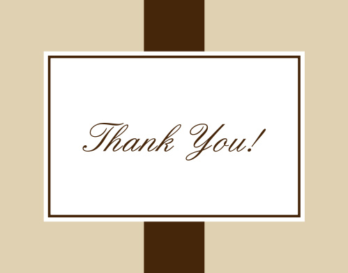 Vintage Classic Thank You Card