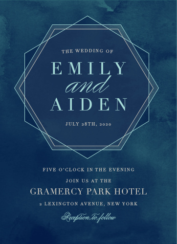 Geometric Dreams Wedding Invitations
