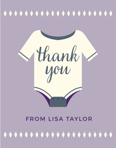 Illustrated Info Girl Baby Shower Thank You Cards