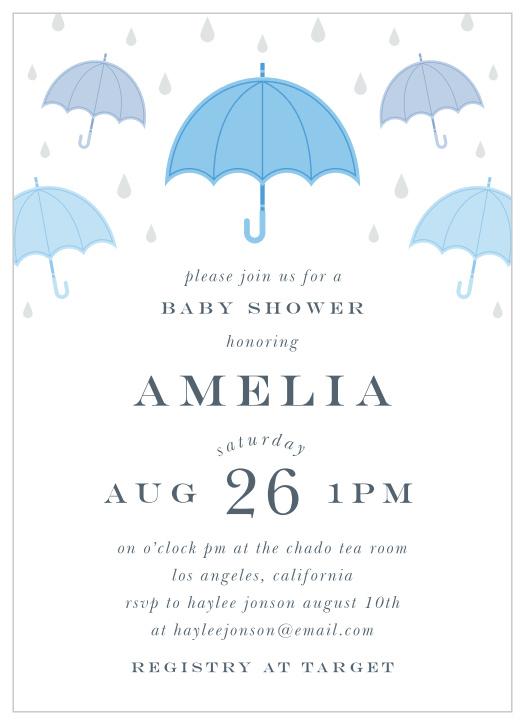 Baby Bump Photo Invitation Having a Baby Baby Shower Invitation Baby Boy Rain Drops Shower Invites It/'s Raining Having A Boy It/'s a Boy