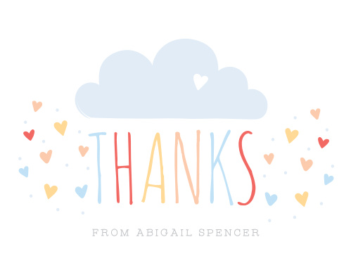 Sprinkled With Love Thank You Cards