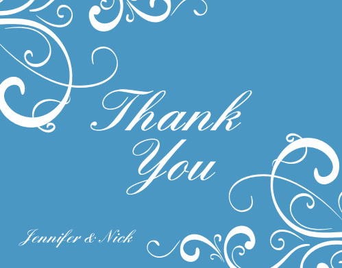 Simple Swirls Thank You Card