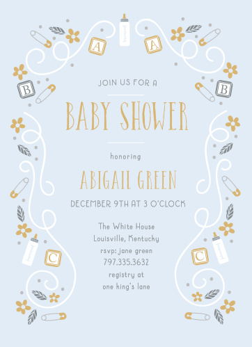 Bottle Baby Shower Invitations Match Your Color Style Free