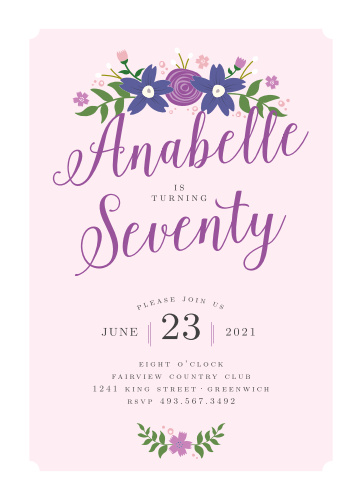 Country Club Milestone Birthday Party Invitations