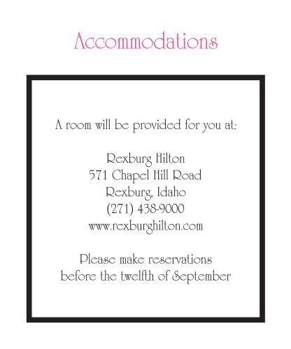 Elegant Gerber Daisy Accommodation Cards