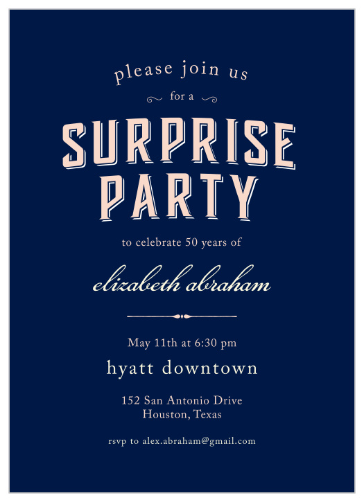 60th Surprise Photo Party Invite 50th Surprise Party Invitation for Him or Her with Photo 40th