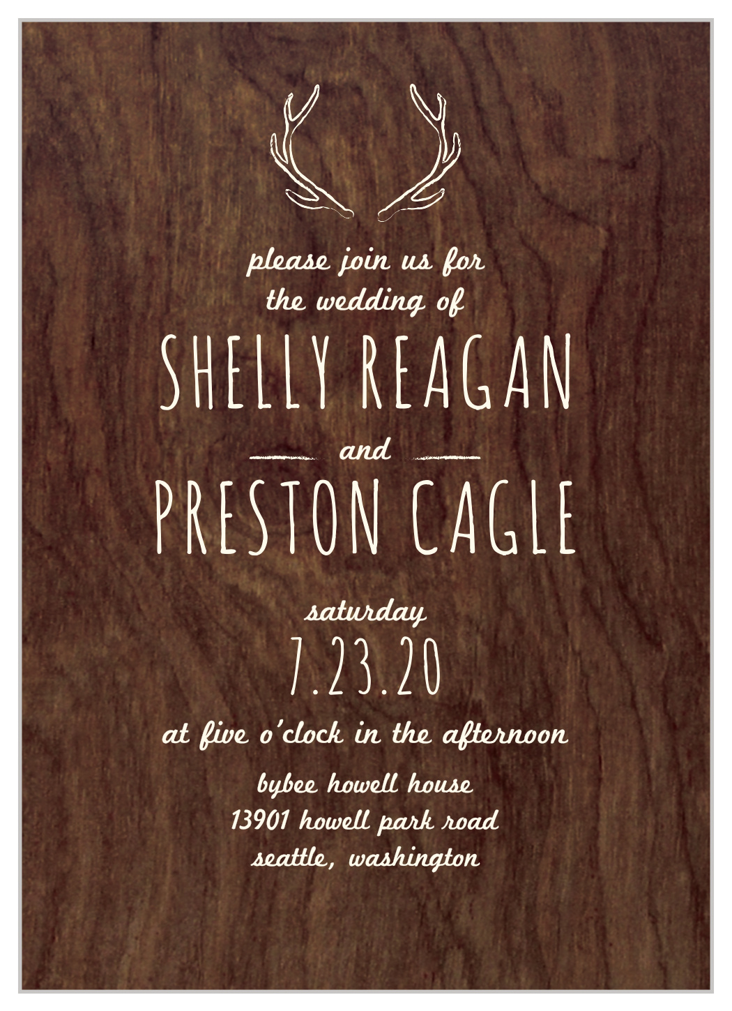Back Country Wedding Invitations