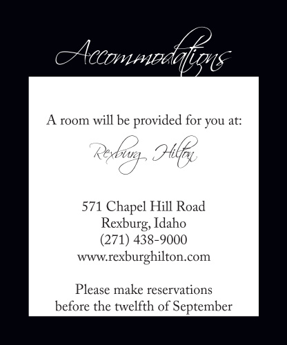 Elegant Stripes Accommodation Cards