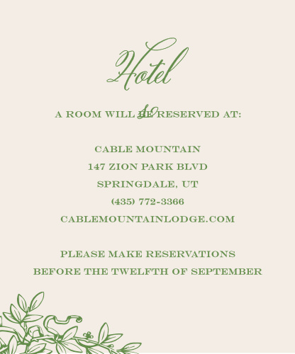 Classical Gardens Accommodation Cards