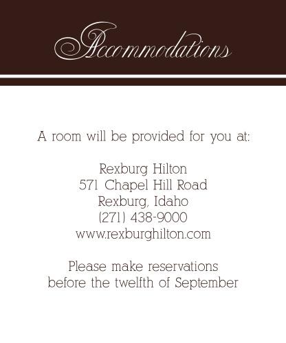 Photo Ribbon Accommodation Cards