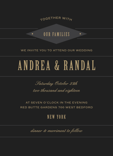 Diamond Field Wedding Invitations