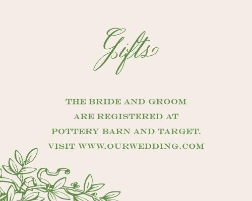 Classical Gardens Registry Cards