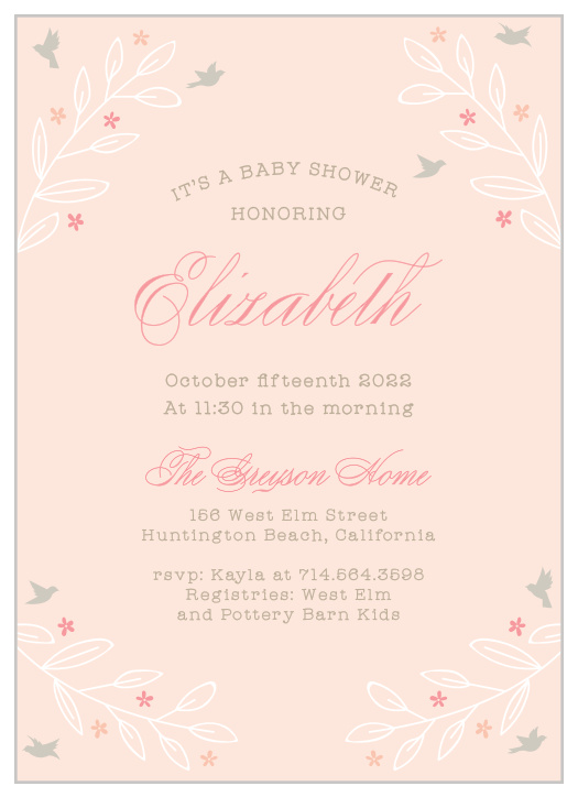 Baby In Bloom Baby Shower Invitations - Match Your Color