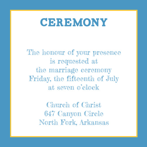Modern Photo Collage Ceremony Cards