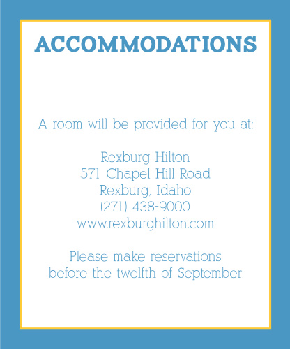 Modern Photo Collage Accommodation Cards