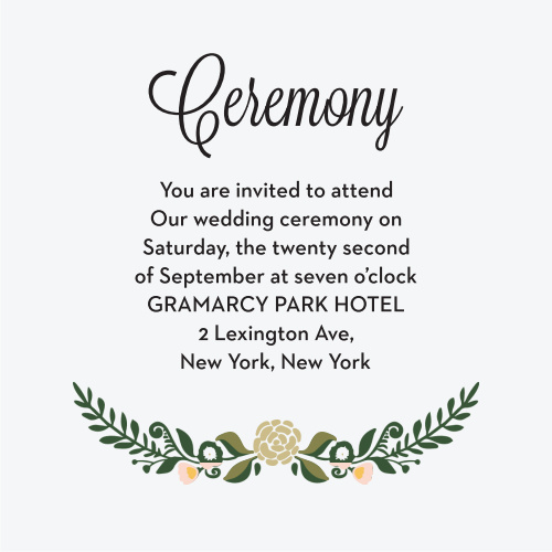 Laurel Crown Ceremony Cards