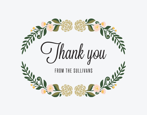 Laurel Crown Thank You Cards